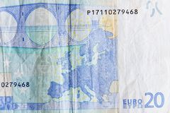 Twenty euros Stock Photo