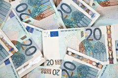 Twenty Euros Background Stock Photo