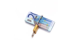 Twenty euros locked Stock Photography