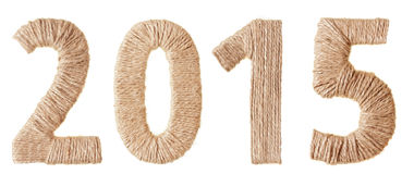 Twenty-fifteenth  New Year of the tissue digits Stock Images