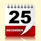Twenty Fifth Indicates New Year And 25 Stock Photos