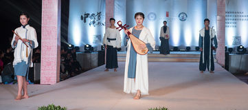 The twenty-fifth series of Chinese musical instruments-Fashion Show Royalty Free Stock Image