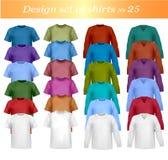 Twenty-fifth shirt set. Twenty-fifth design shirt set. Vector Stock Image