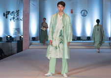 Twenty-first series spring green-Fashion Show Stock Images