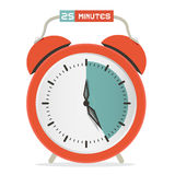 Twenty Five Minutes Stop Watch Stock Image