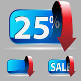 Twenty Five Percent Royalty Free Stock Photography
