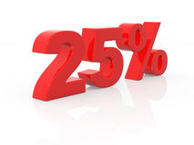 Twenty-five percent Stock Photo