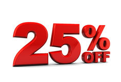 Twenty-five percent discount Stock Images
