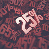 Twenty Five Percent Discount Stock Images