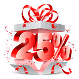 Twenty Five Percent Discount Gift Royalty Free Stock Image