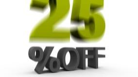 Twenty five Percent Off stock video