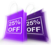 Twenty-Five Percent Off On Bags Shows 25 Bargains Royalty Free Stock Images