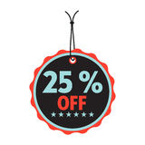 Twenty five percent off Stock Photo