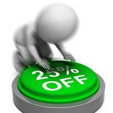 Twenty-Five Percent Off Pressed Means 25 Reduced Price Royalty Free Stock Image
