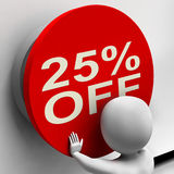Twenty-Five Percent Off Shows 25 Price Reduction Stock Photo