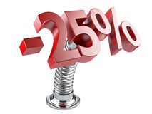 Twenty five percent off on a spring Royalty Free Stock Photos