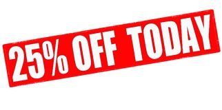 Twenty five percent off today Royalty Free Stock Image