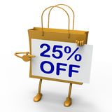 Twenty-five Percent Reduced On Shopping Bags Stock Images