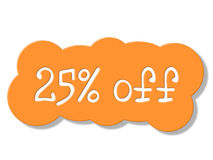 Twenty Five Percent Represents Cheap Savings And Sale Royalty Free Stock Photos