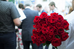 Twenty-five red roses Royalty Free Stock Photos
