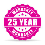 Twenty five year warranty icon Royalty Free Stock Photo