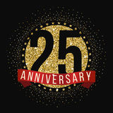Twenty five years anniversary celebration logotype. 25th anniversary logo. Royalty Free Stock Photography