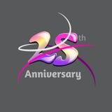 Twenty five years anniversary logo and symbol design. Vector file Royalty Free Stock Image