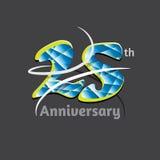 Twenty five years anniversary logo and symbol design. Vector file Royalty Free Stock Photo
