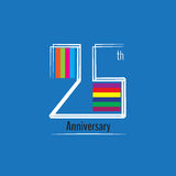 Twenty five years anniversary logo and symbol design. Vector file Royalty Free Stock Images