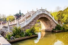Twenty-four Bridge on the Lender west lake. Slender west lake is a well-known scenic spot in China. It is situated in the northwest suburb of Yangzhou City Stock Images