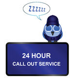 Twenty four call out service sign Stock Photography