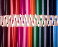 Twenty four color pencils Royalty Free Stock Photography