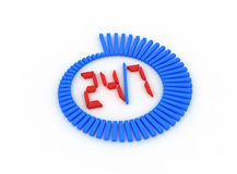 Twenty four hour. 3D icon. High quality render Stock Photography
