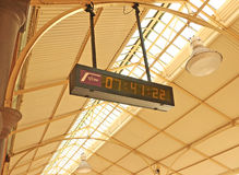Twenty-four hour clock at the Maryborough Railway Station platform Stock Photography