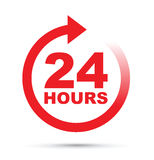 Twenty four hour icon Stock Photos