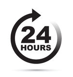 Twenty four hour icon Stock Photos