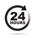 Twenty four hour icon Royalty Free Stock Image