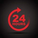 Twenty four hour icon Royalty Free Stock Image