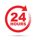 Twenty four hour icon Stock Images