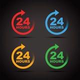 Twenty four hour icon set Stock Photo