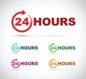 Twenty four hour icon set Royalty Free Stock Photo