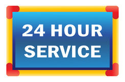 Twenty four hour service Stock Photo