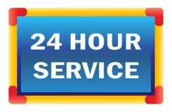 Twenty four hour service Stock Photo