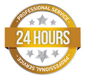 Twenty four hour support. Illustration design over a white background Stock Photo