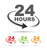 Twenty four hours clock Royalty Free Stock Photo