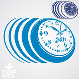 Twenty-four hours a day conceptual vector eps 8 highly detailed Royalty Free Stock Images