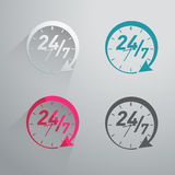 Twenty four hours icon Stock Images