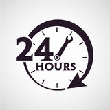Twenty four hours icon Royalty Free Stock Image