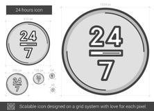 Twenty four hours line icon. Stock Images