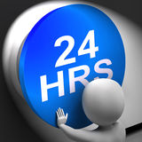 Twenty Four Hours Pressed Shows 24H  Availability Stock Images